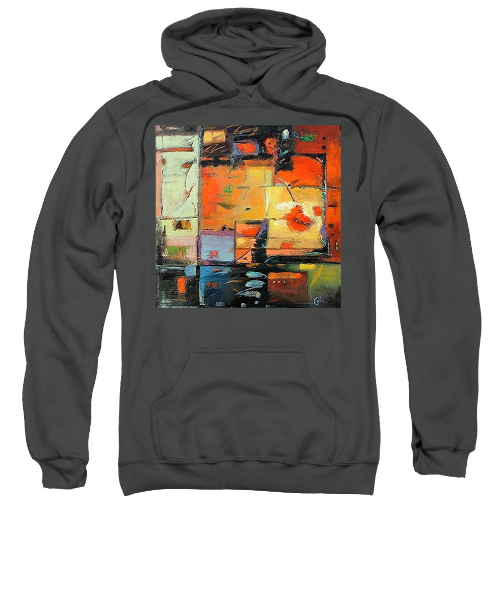 Abstract Painting Sweatshirt featuring the painting Evening Light by Gary Coleman