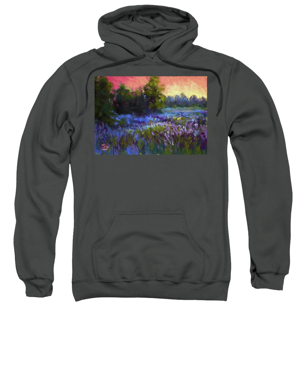 Evening Field Sweatshirt featuring the painting Evening Serenade by Susan Jenkins