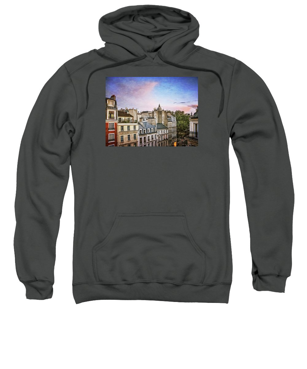 Paris Sweatshirt featuring the photograph Evening Skyline by David Thompson
