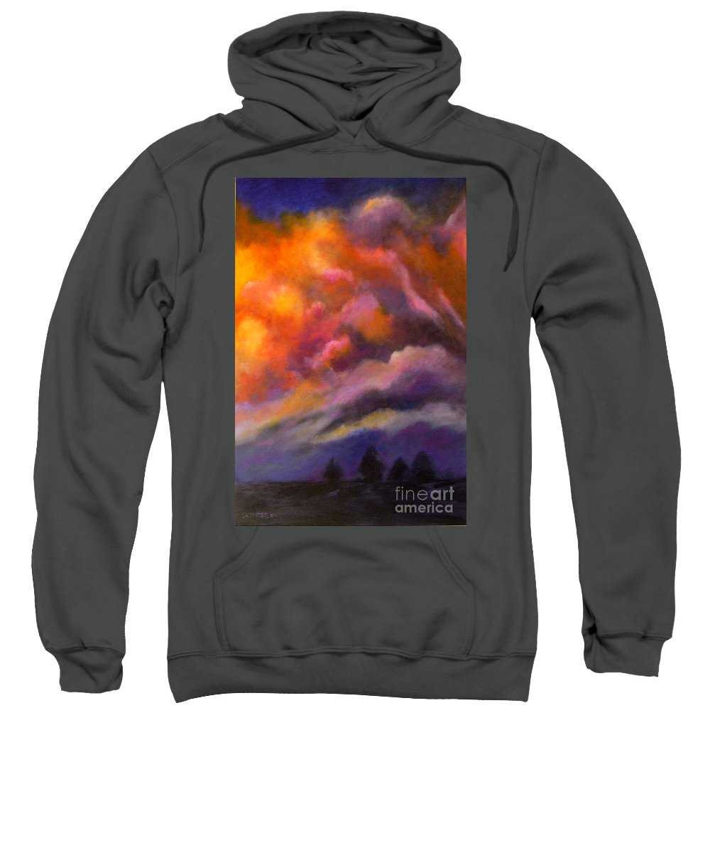 Clouds Sweatshirt featuring the painting Evening Symphony by Alison Caltrider