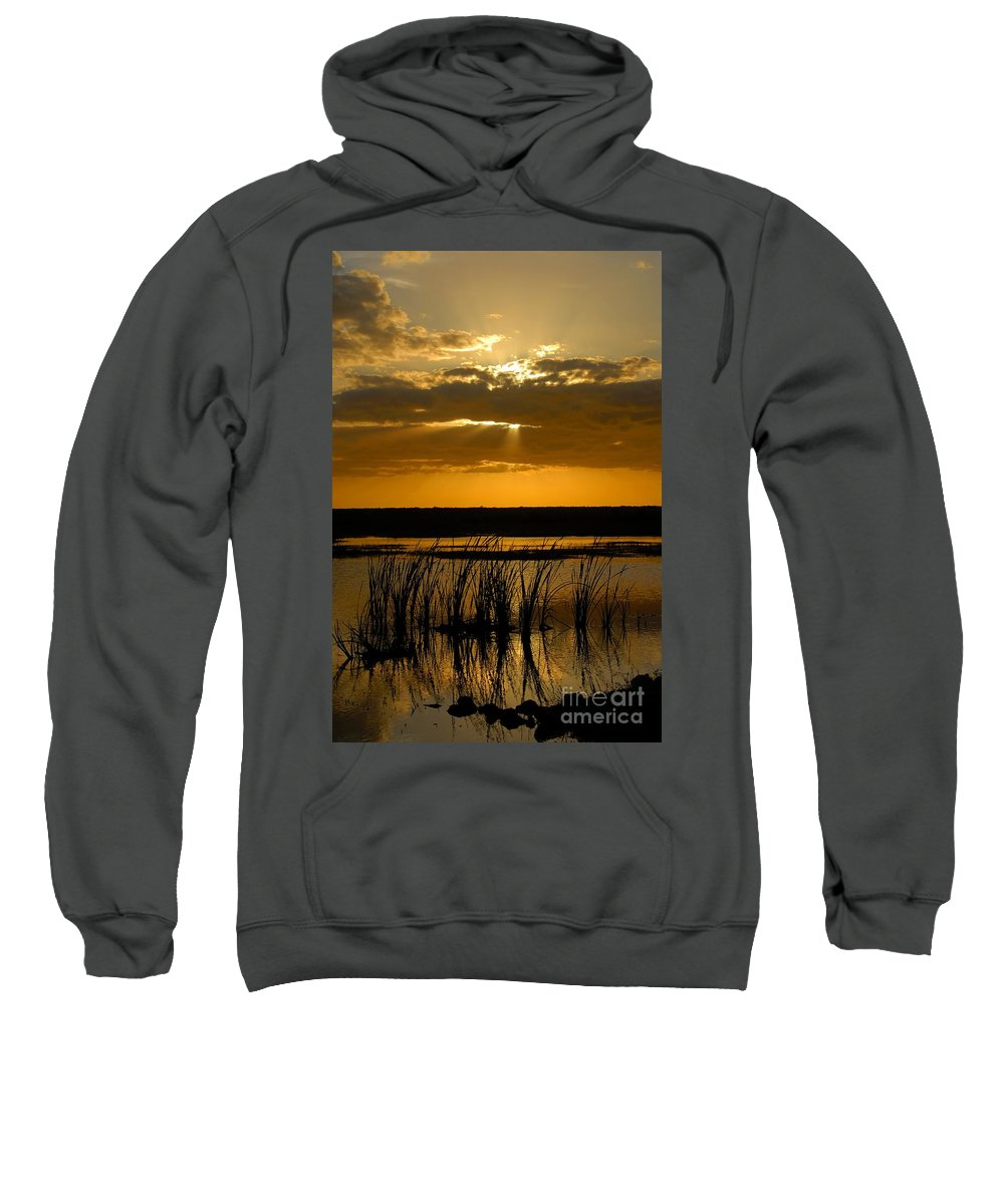 Everglades National Park Florida Sweatshirt featuring the photograph Everglades Evening by David Lee Thompson