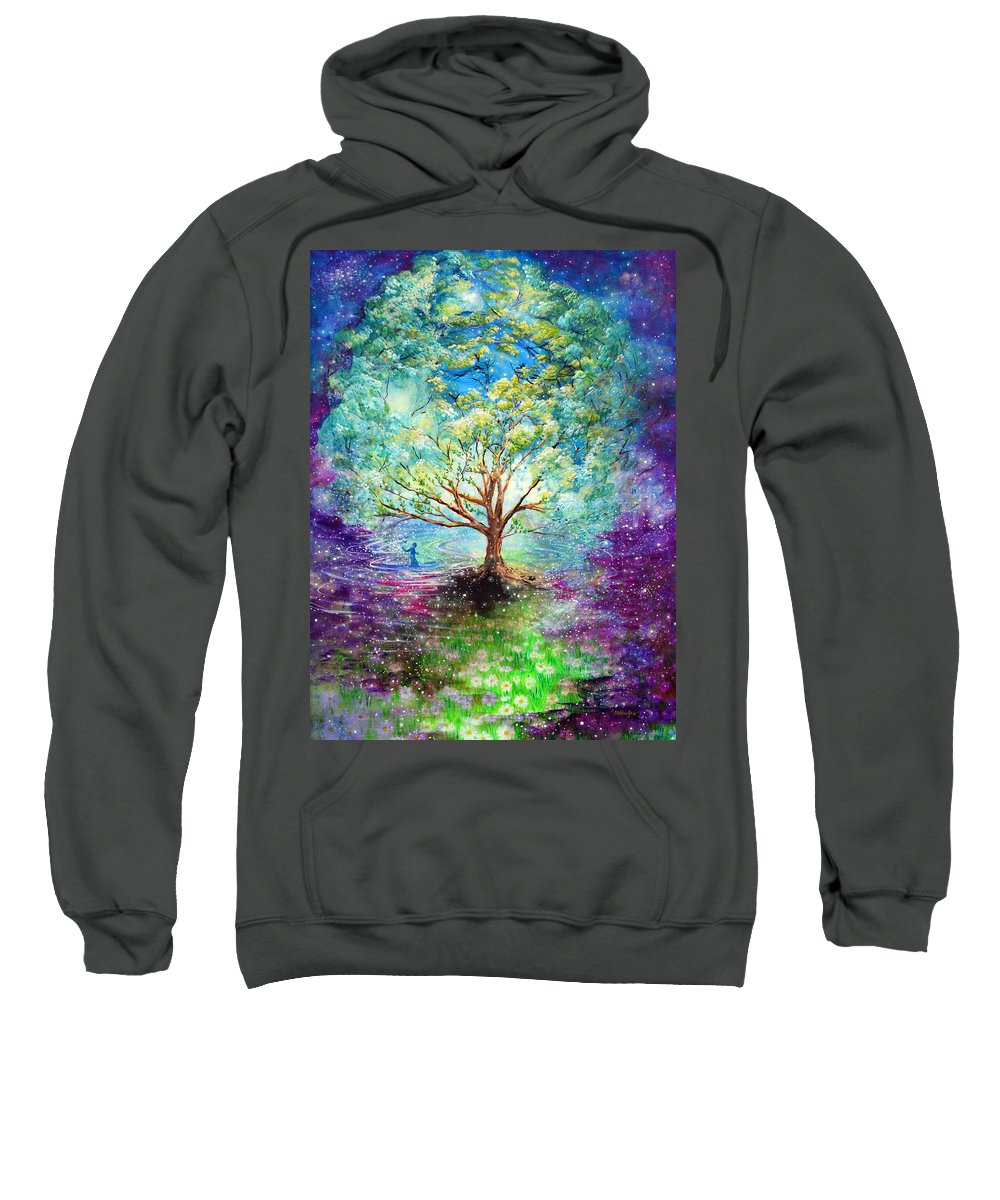 Magical Tree Sweatshirt featuring the painting Everything Is An Opportunity To Practice New Beginnings by Ashleigh Dyan Bayer