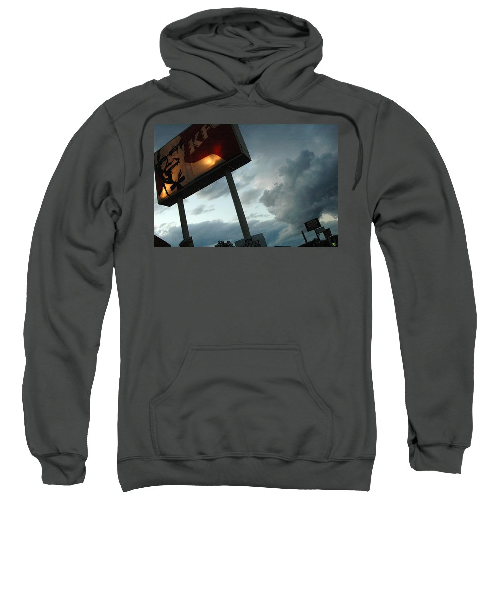 Sky Sweatshirt featuring the photograph Evil Colonel by Trish Hale