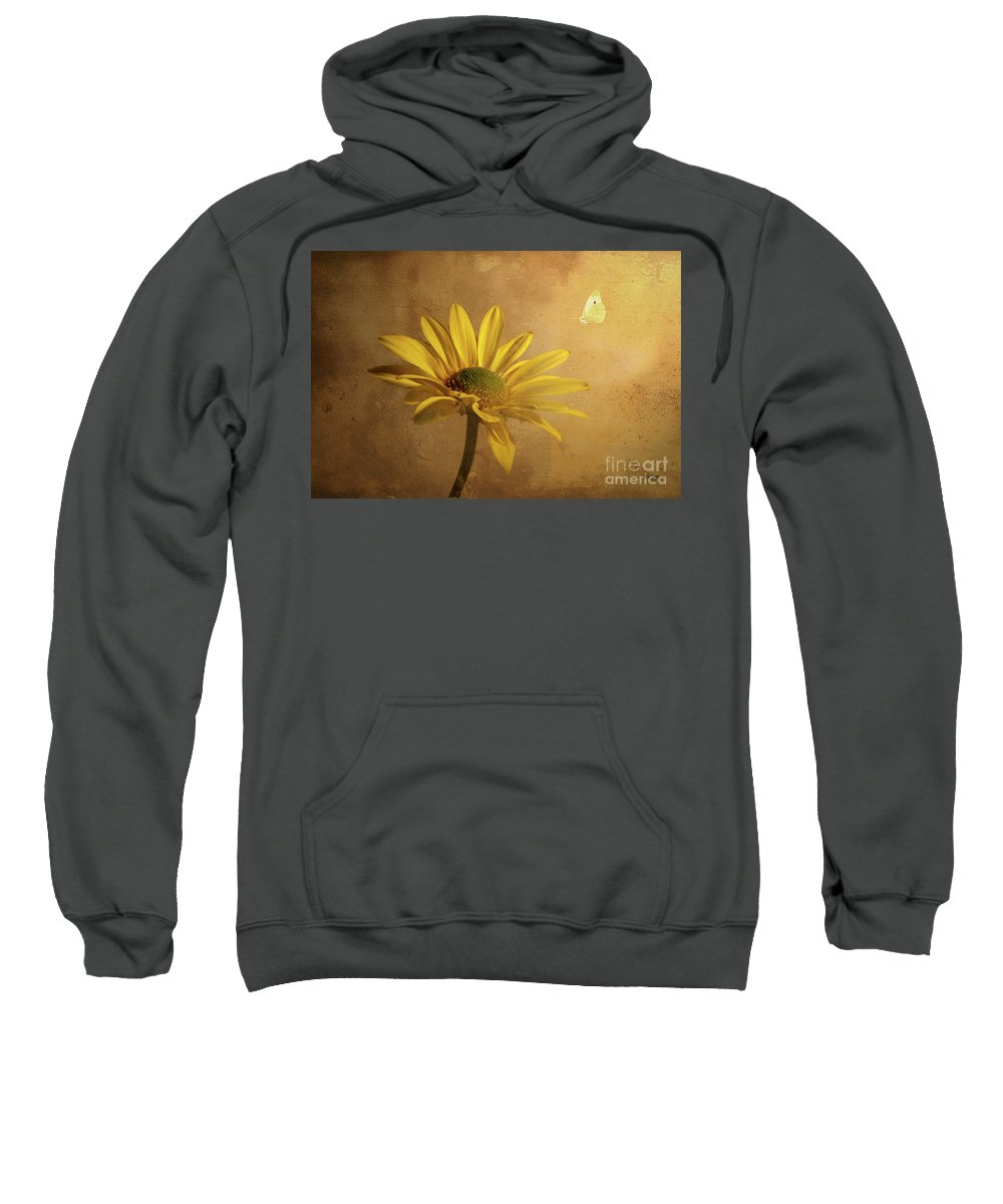 Daisy Sweatshirt featuring the photograph Expectant by Lois Bryan