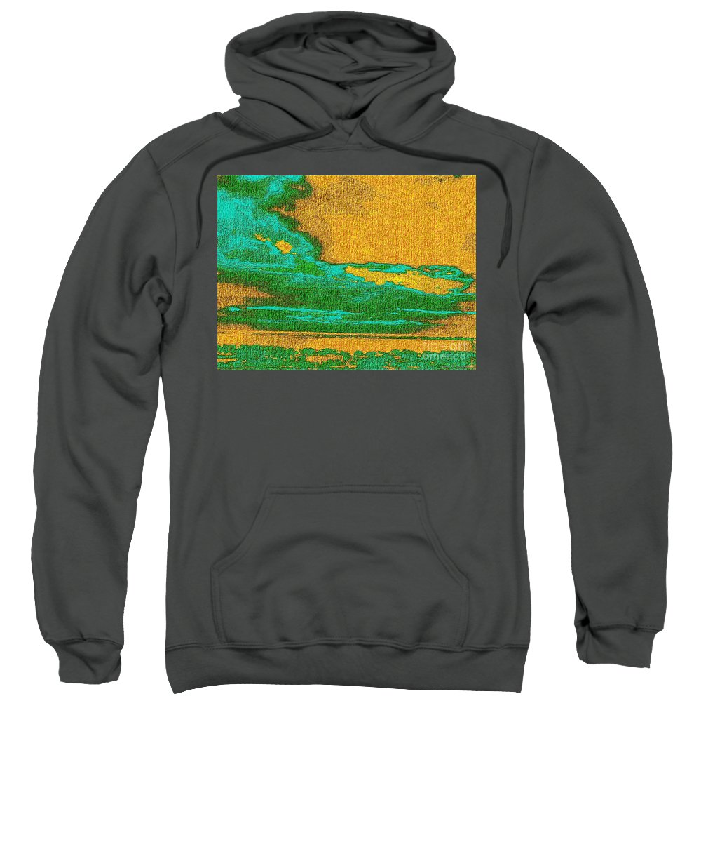 Expressionist View Vi Sweatshirt featuring the painting Expressionist View Vi by James W Stanfield Jr
