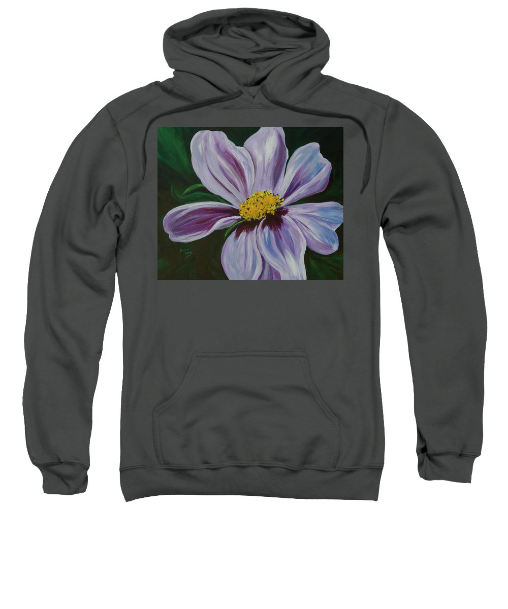 Floral Sweatshirt featuring the painting Exquisite by Donna Drake