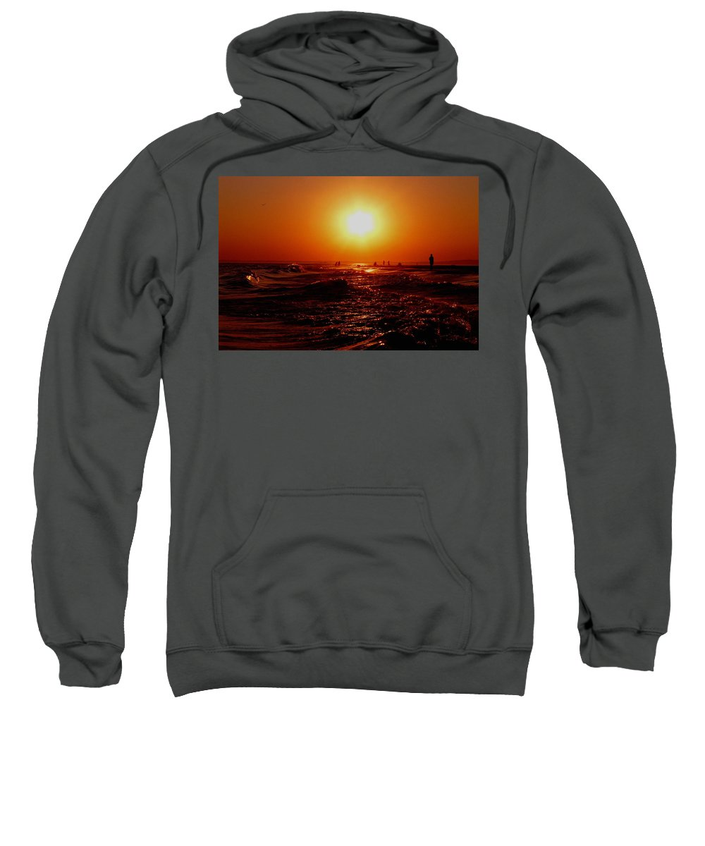 Beach Sweatshirt featuring the photograph Extreme Blazing Sun by Kendall Eutemey