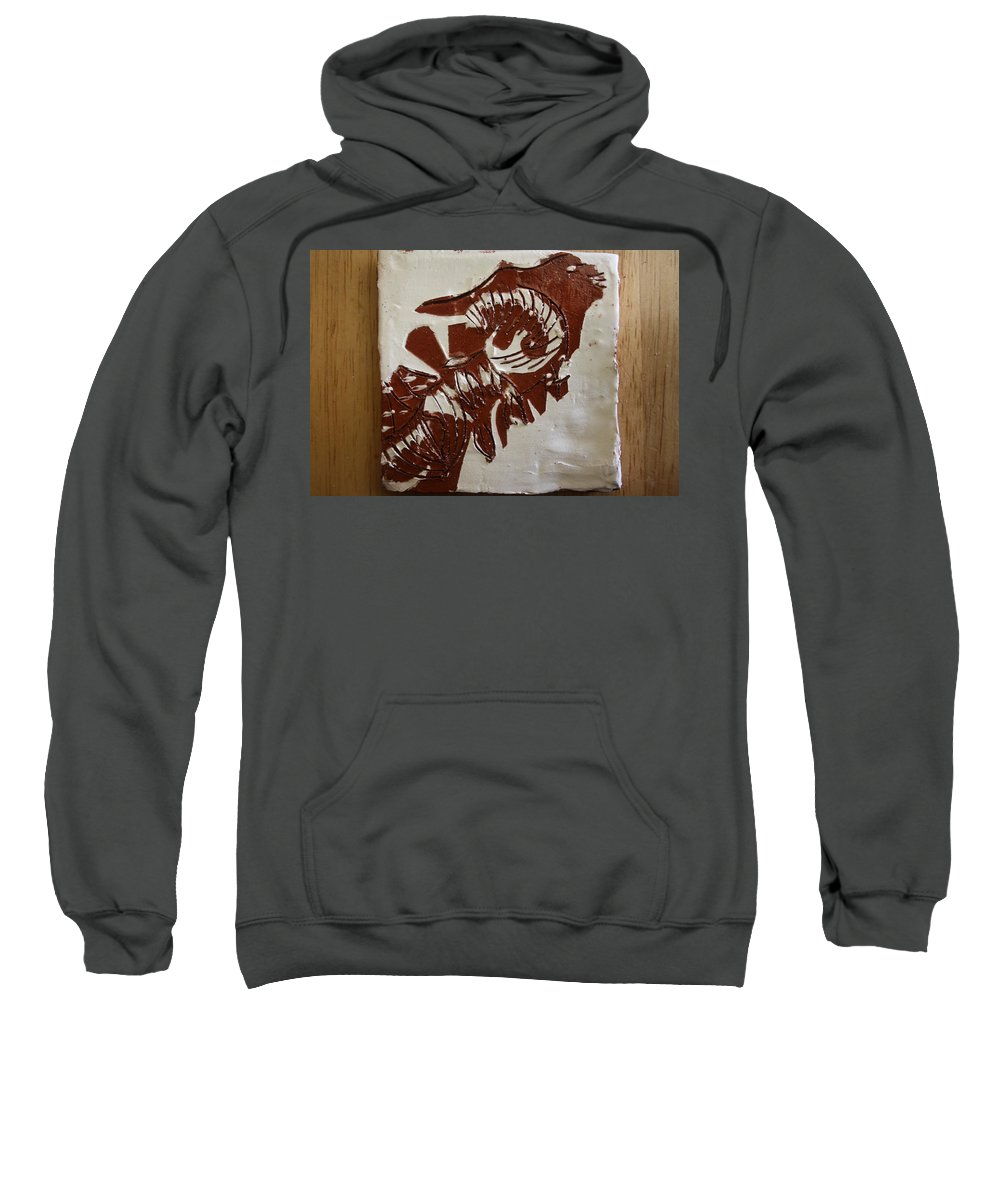Jesus Sweatshirt featuring the ceramic art Extremes - Tile by Gloria Ssali