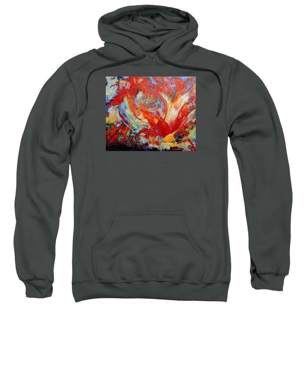 Abstract Sweatshirt featuring the painting Exuberance by Michael Durst