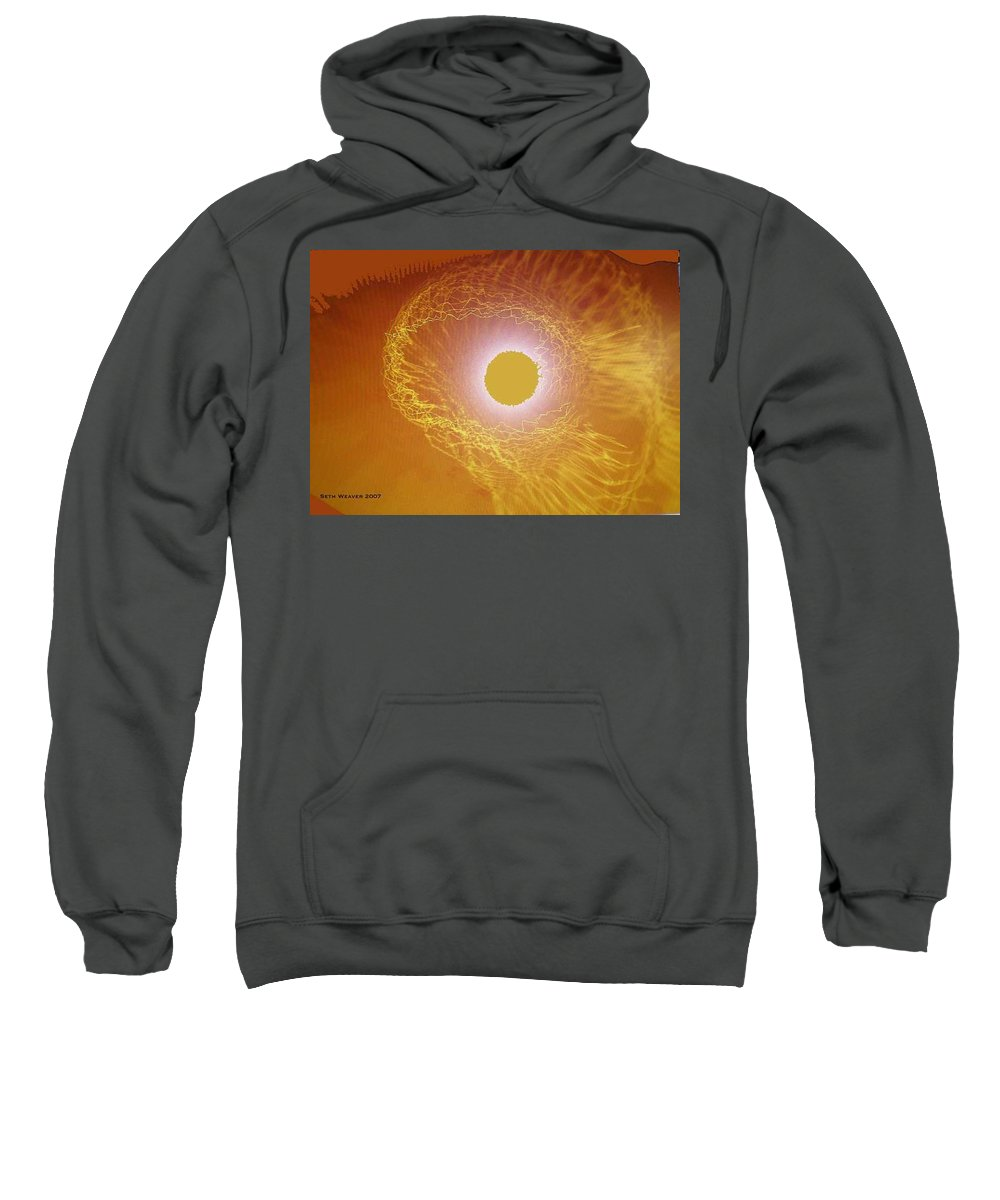 The Powerful Gaze Of The Almighty. Destroying Evil With His Almighty Sight. Sweatshirt featuring the digital art Eye Of God by Seth Weaver