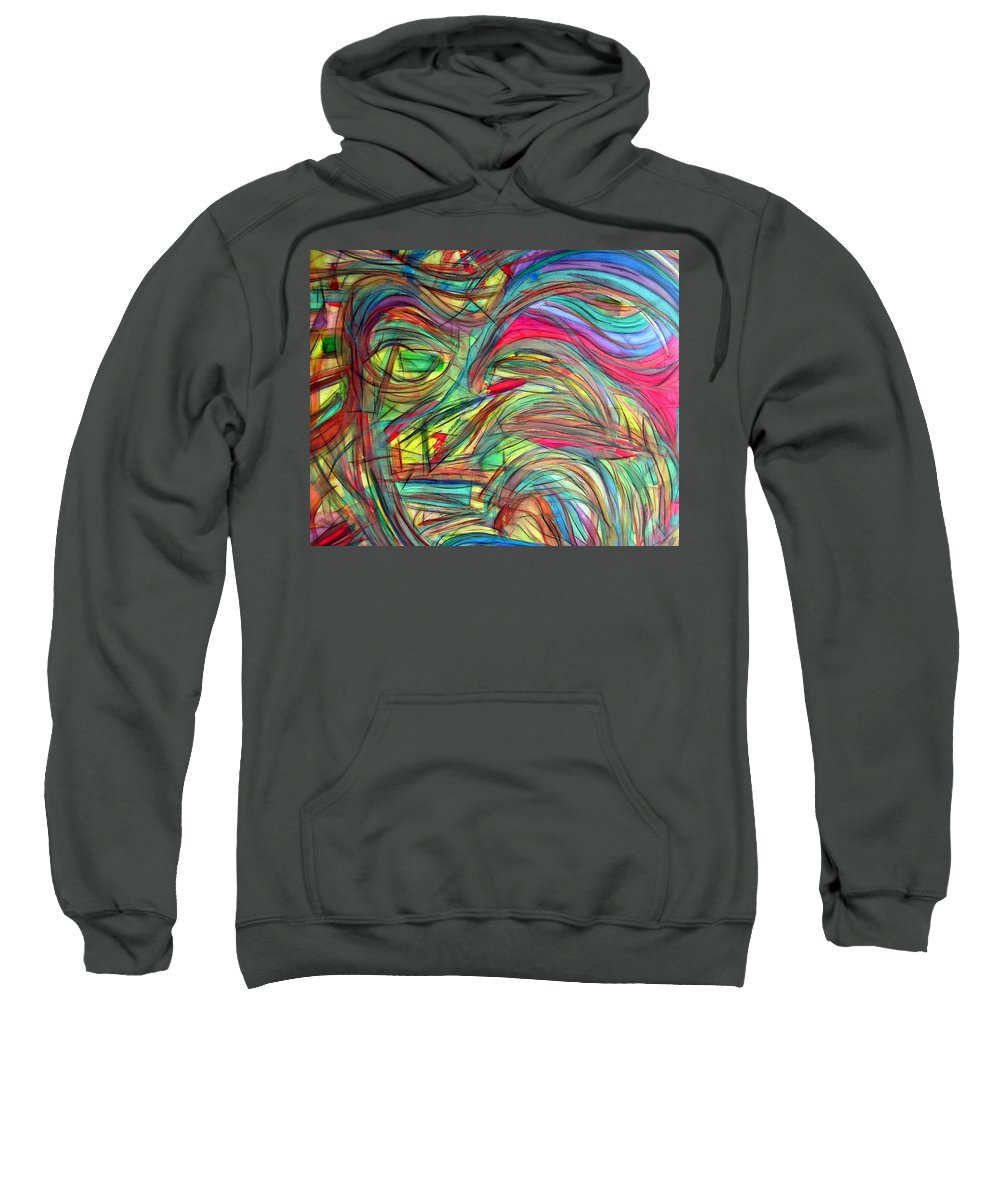 Art Sweatshirt featuring the painting Eyes Of Persephone by Dawn Hough Sebaugh