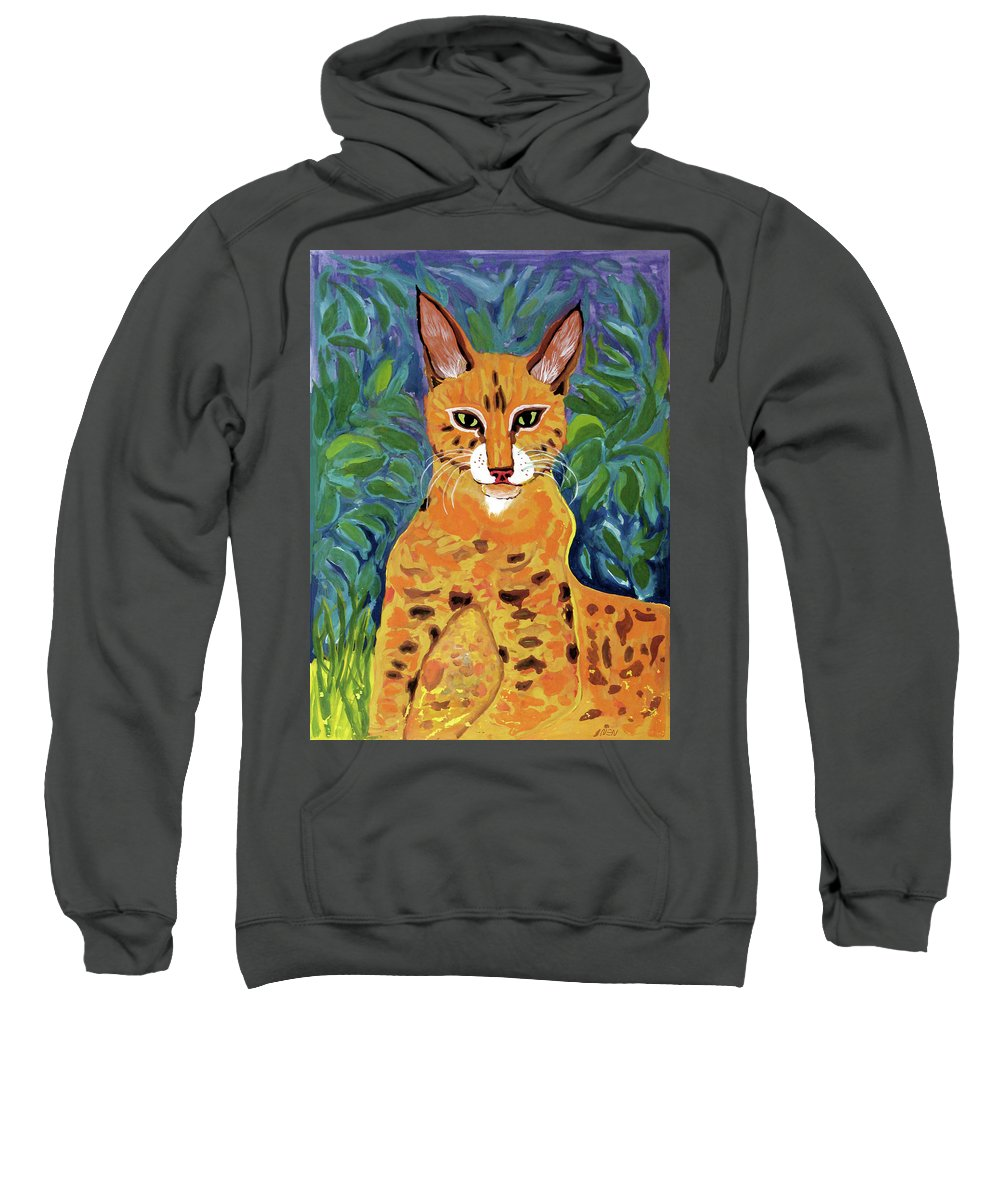 Fabulous Sweatshirt featuring the painting fabulous cat portrait in the style of Van Gogh's by Vladimir Nenashev