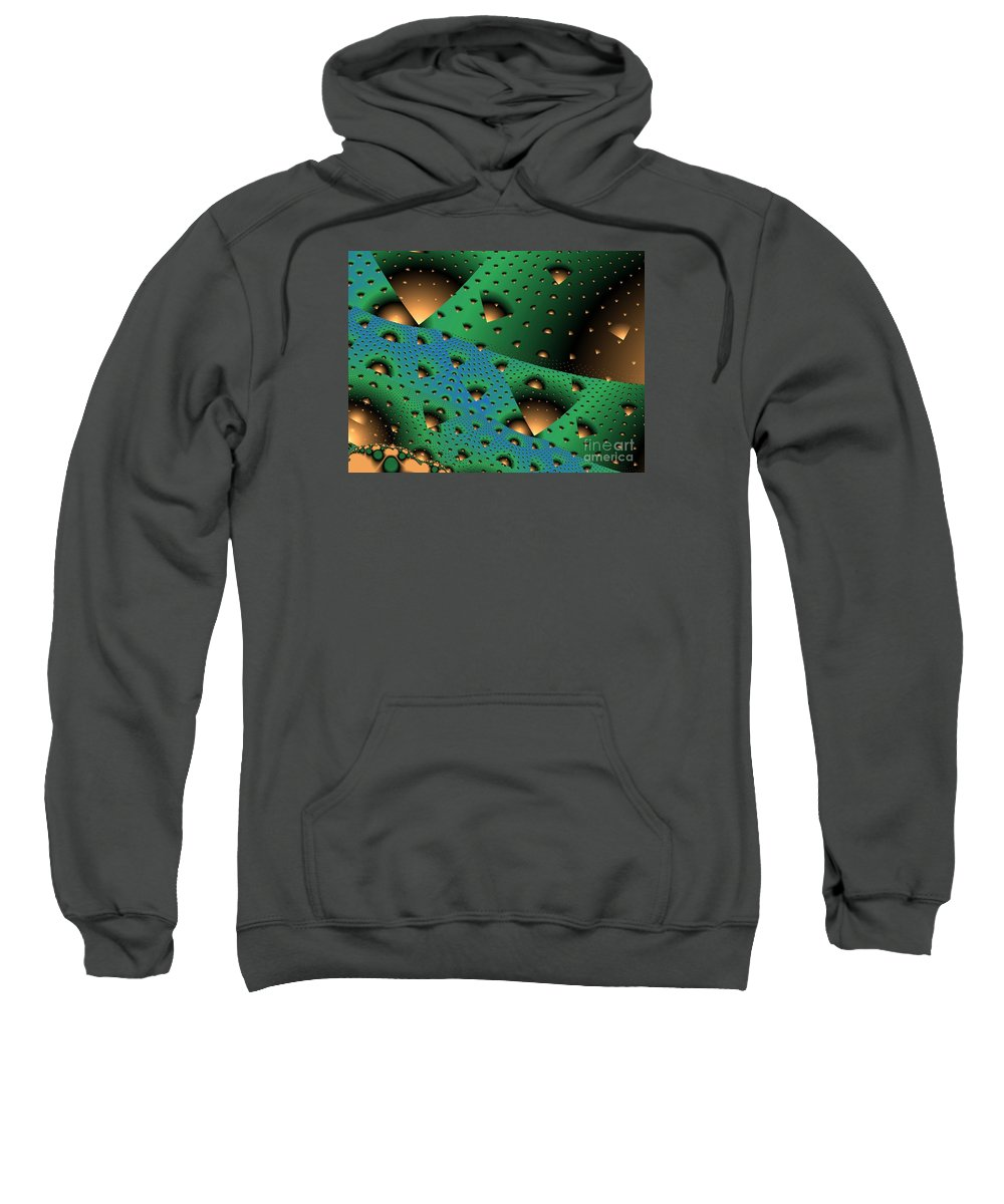 Fractal Art Sweatshirt featuring the digital art Facades And Fenestration by Ron Bissett