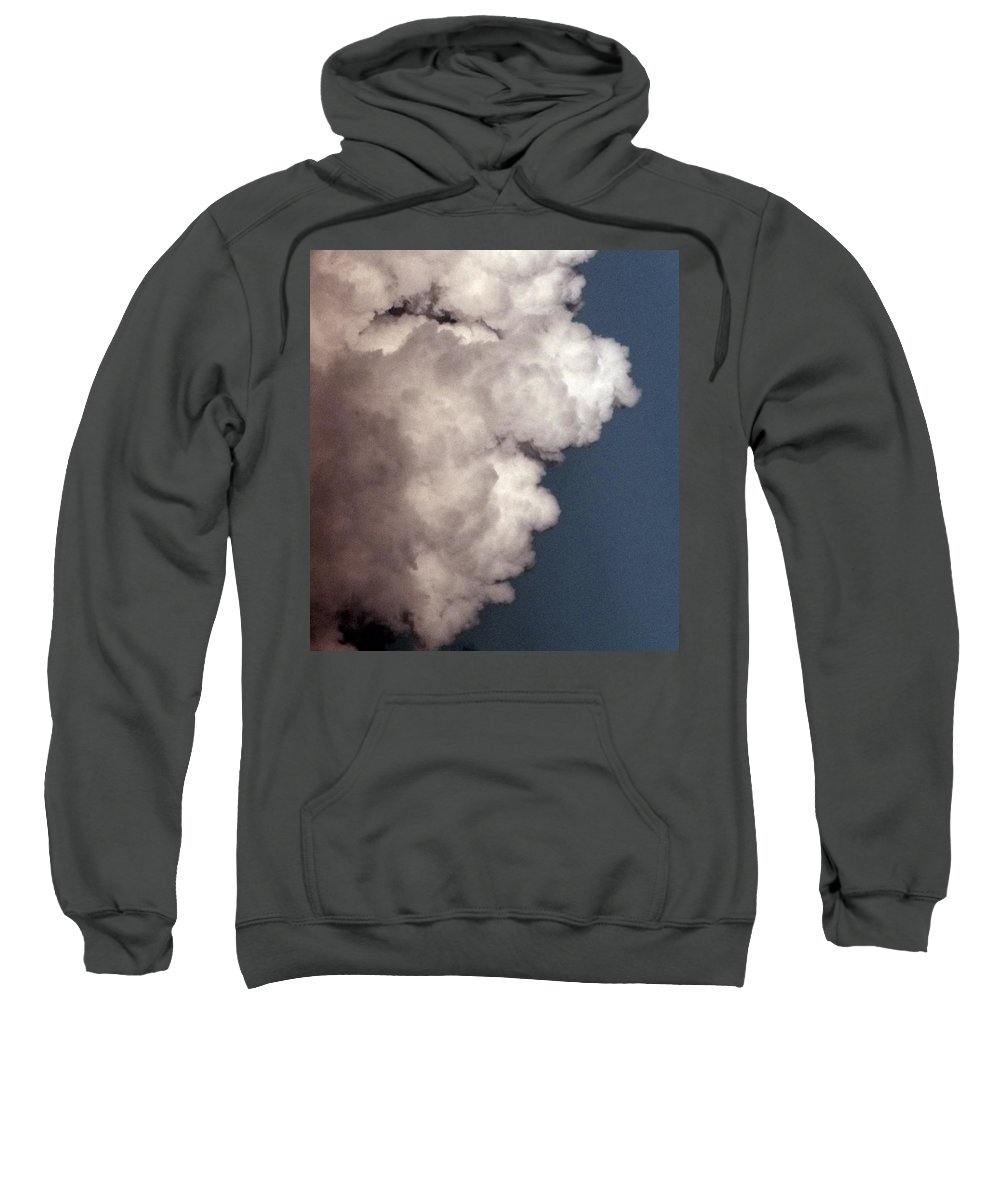 Face Sweatshirt featuring the photograph Face In The Clouds by Ed Smith