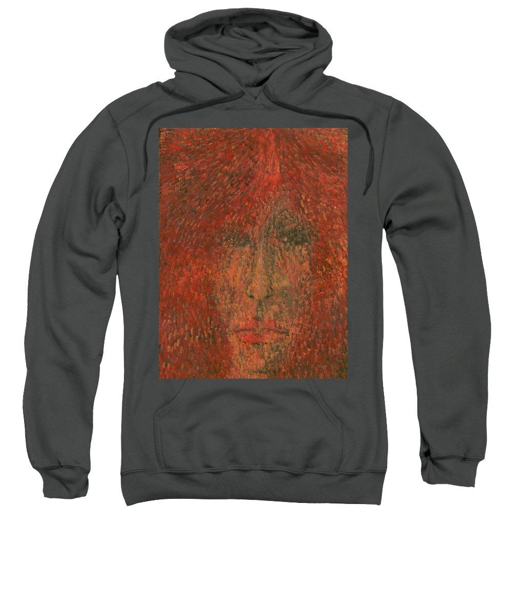 Colour Sweatshirt featuring the painting Face by Wojtek Kowalski