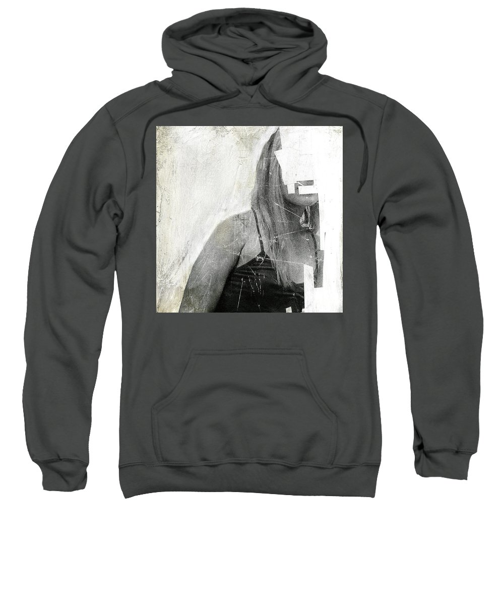 Faceless Sweatshirt featuring the painting Faceless No 03 by Famous When Dead