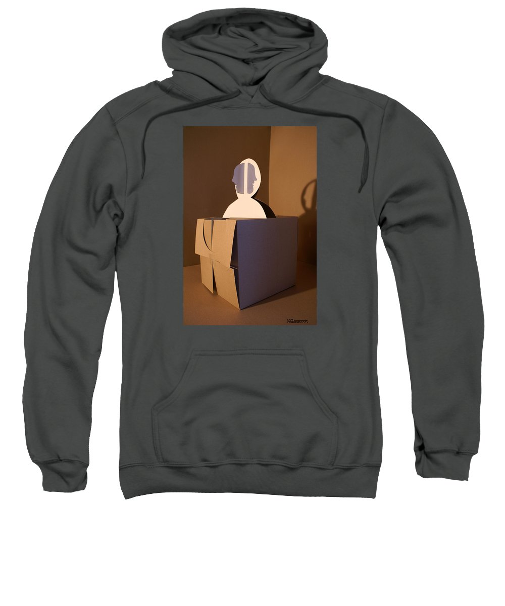 Mr Roboman Sweatshirt featuring the sculpture Faces 2 by Mr ROBOMAN