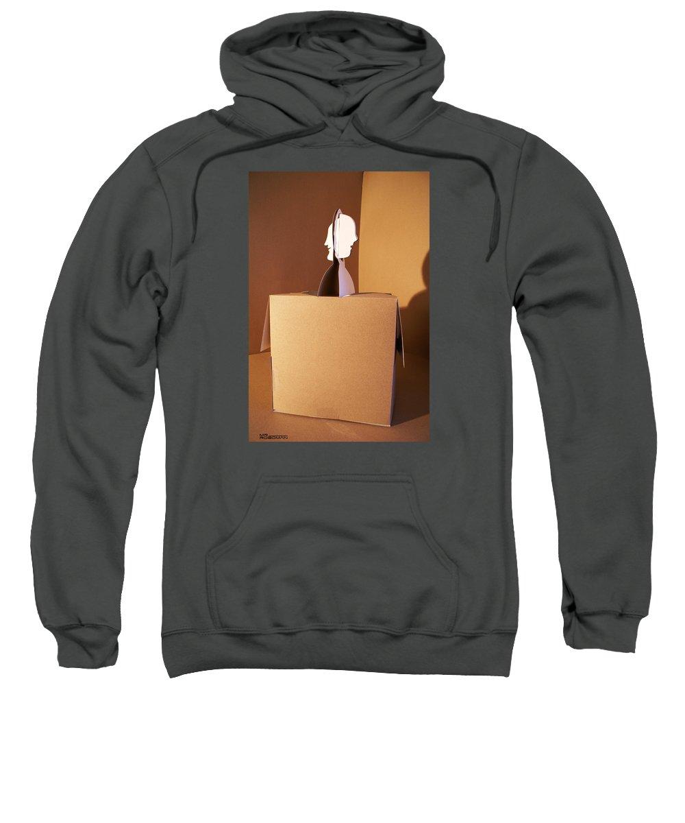 Mr Roboman Sweatshirt featuring the sculpture Faces 5 by Mr ROBOMAN