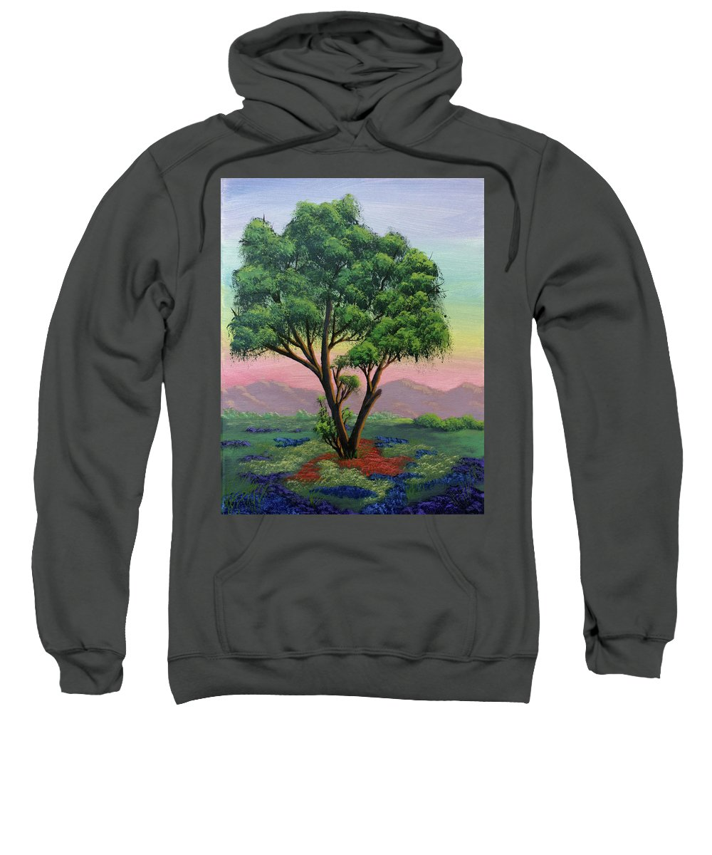 Tree Sweatshirt featuring the painting Fading Day by Dawn Blair
