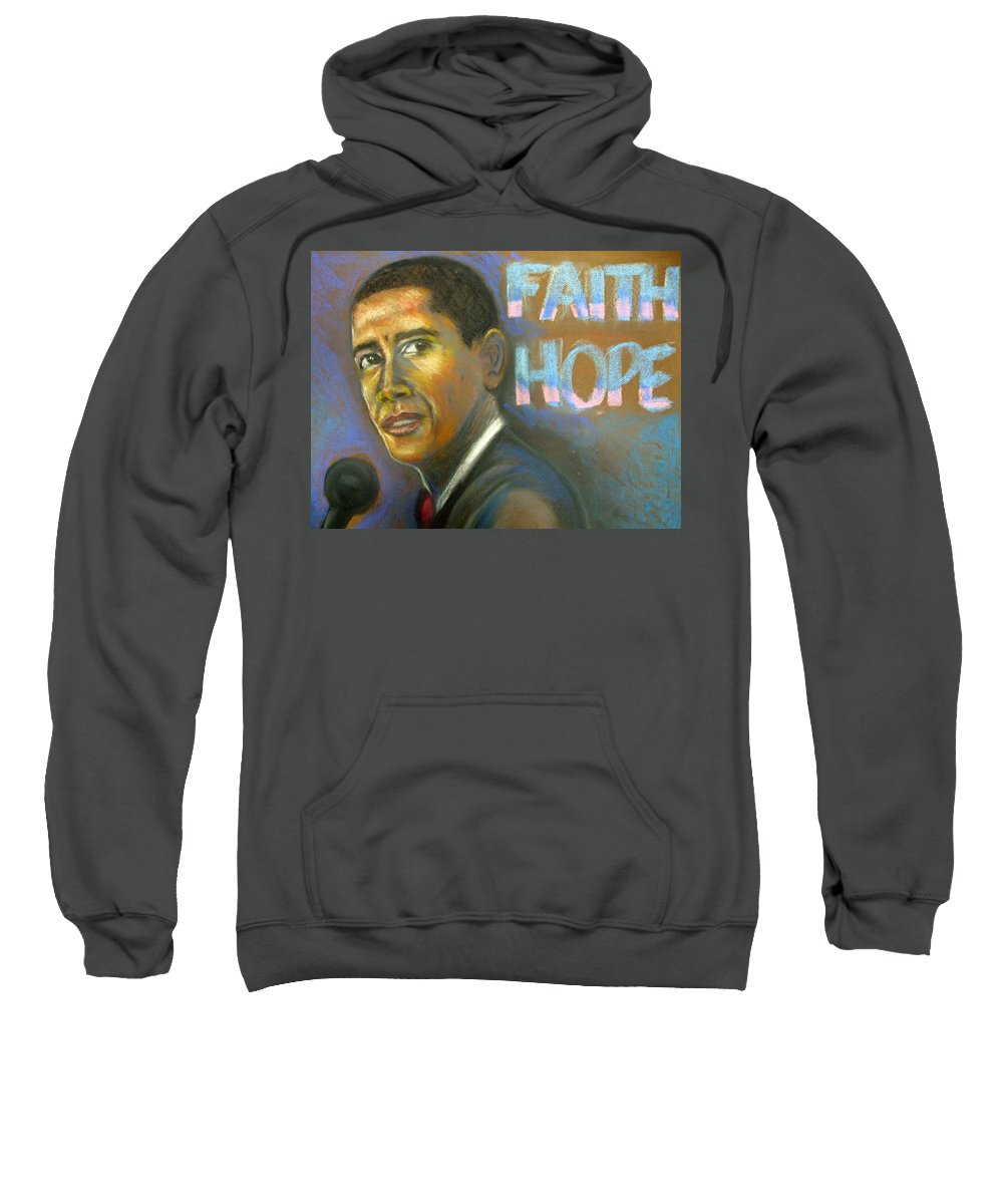 Sweatshirt featuring the drawing Faith And Hope by Jan Gilmore