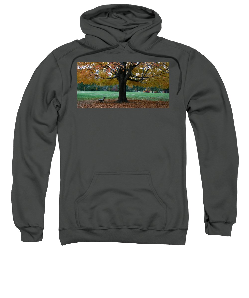 Maymont Sweatshirt featuring the photograph Fall At Maymont by Tina Meador