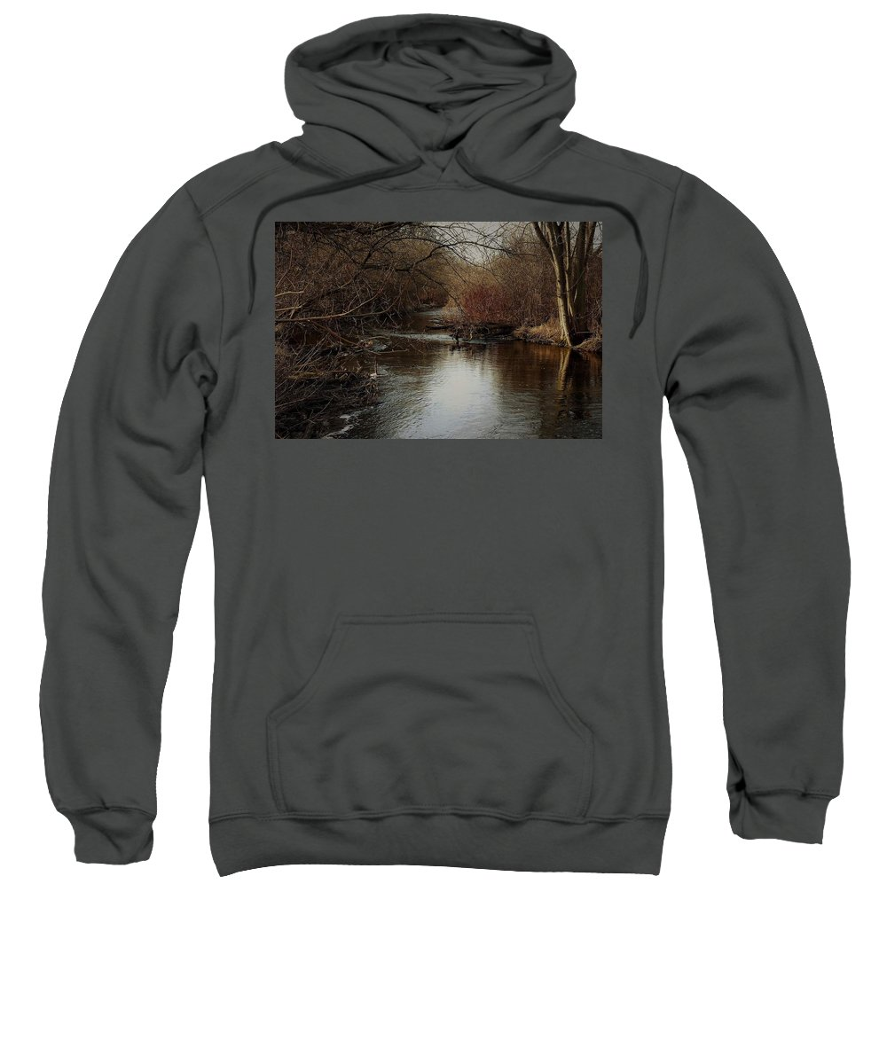 Fall Sweatshirt featuring the photograph Fall Calm by Melissa Haney