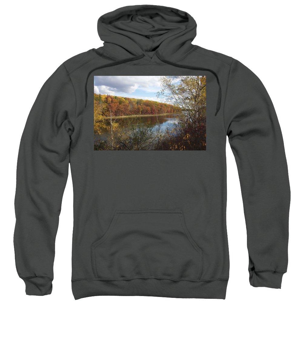 Michigan Sweatshirt featuring the photograph Fall Colors by David Lyon
