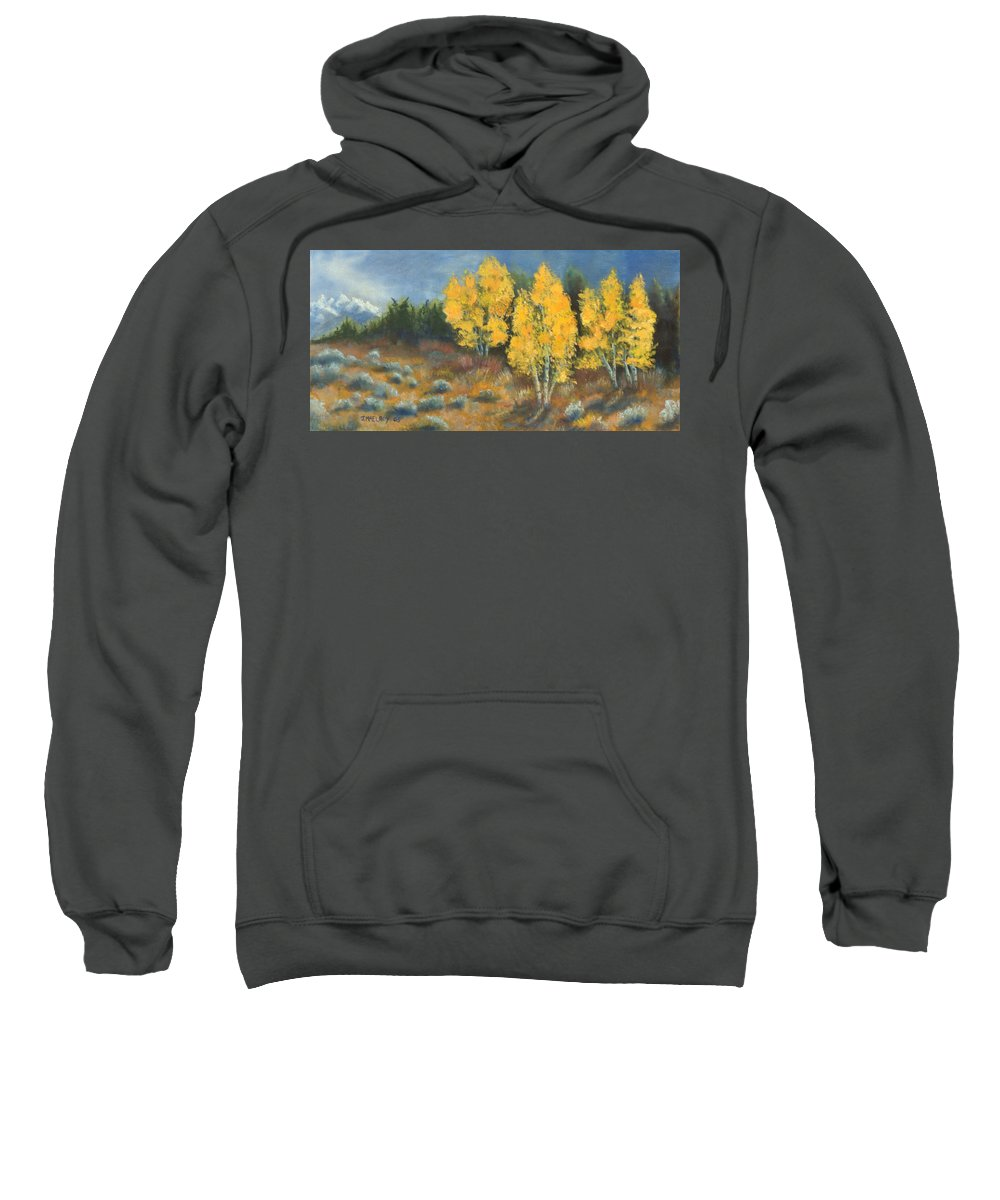 Landscape Sweatshirt featuring the painting Fall Delight by Jerry McElroy