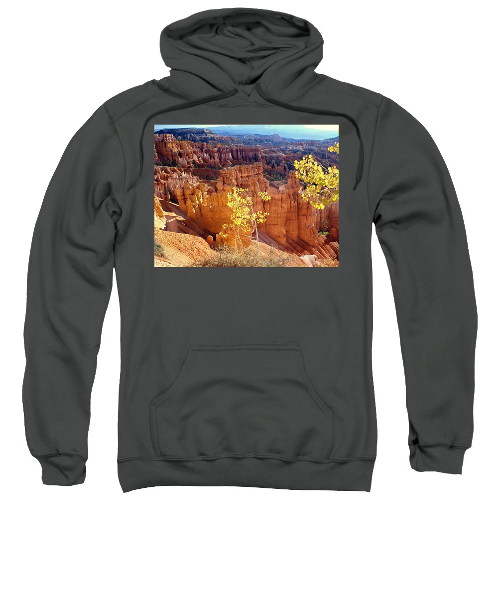 Bryce Canyon National Park Sweatshirt featuring the photograph Fall In Bryce Canyon by Marty Koch