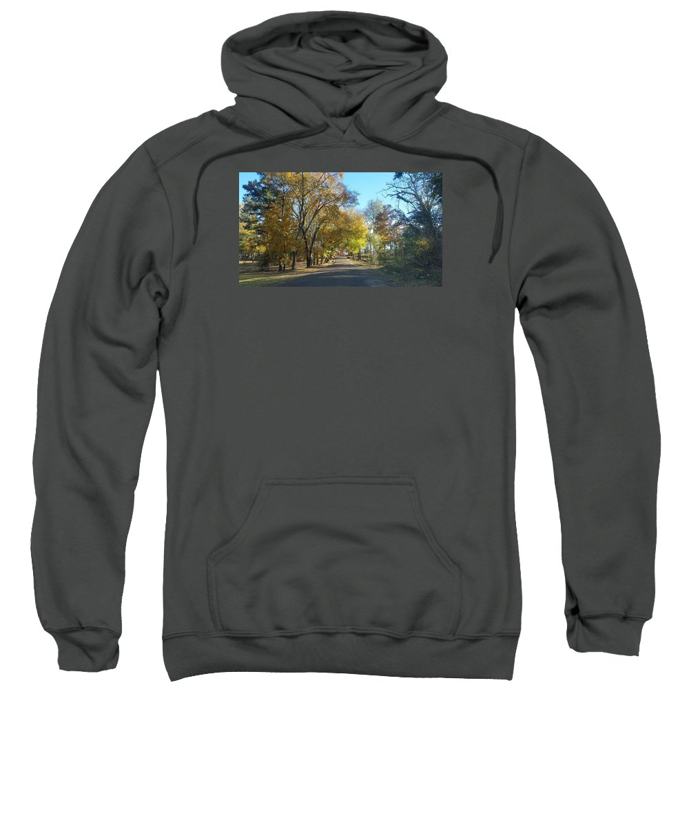 Landscape In East Texas (fall) Sweatshirt featuring the photograph Fall In East Texas by Brandon Fleet