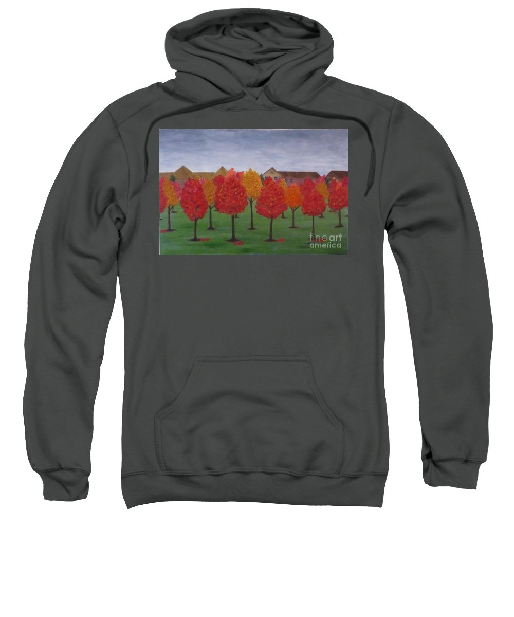 Fall Sweatshirt featuring the painting Fall In Markham by Monika Shepherdson