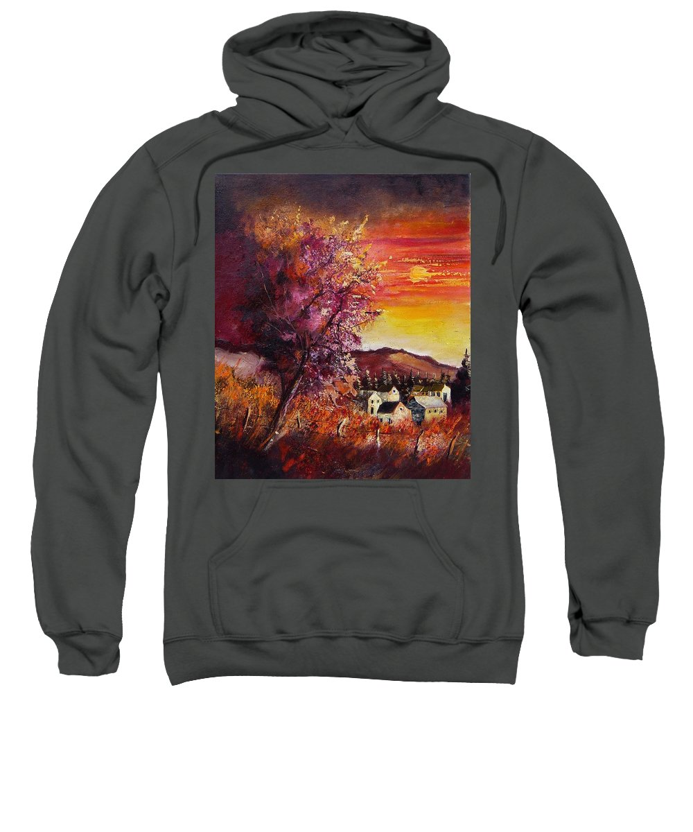 Autumn Sweatshirt featuring the painting Fall In Villers by Pol Ledent