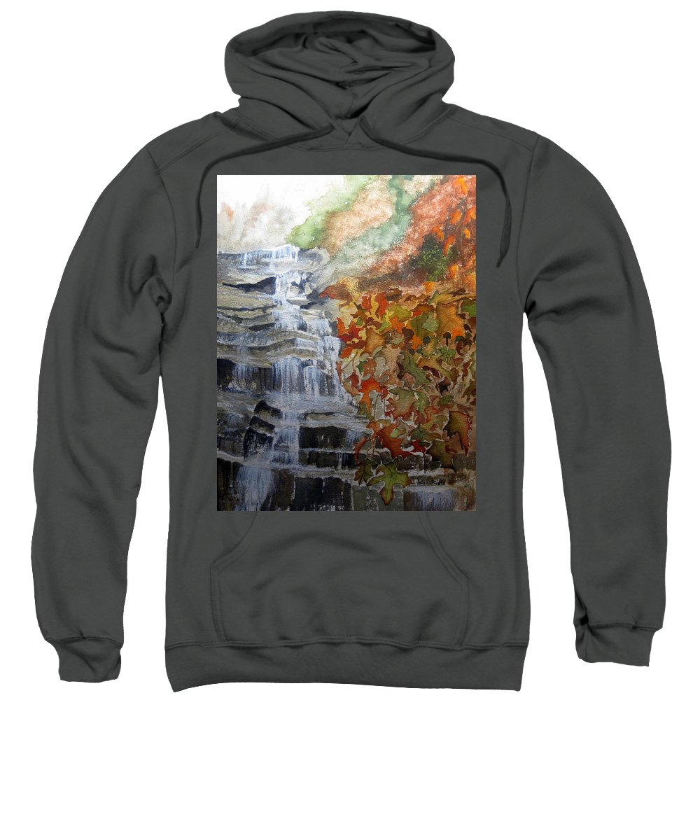 Water Fall Sweatshirt featuring the painting Fall Leaves by Julia Rietz