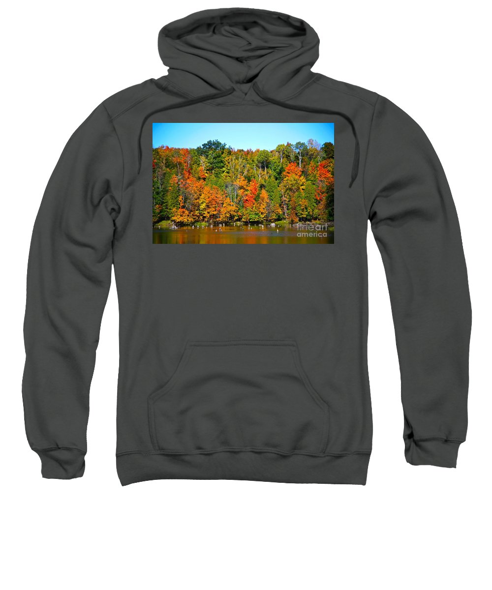 Fall Sweatshirt featuring the photograph Fall On The Water by Robert Pearson