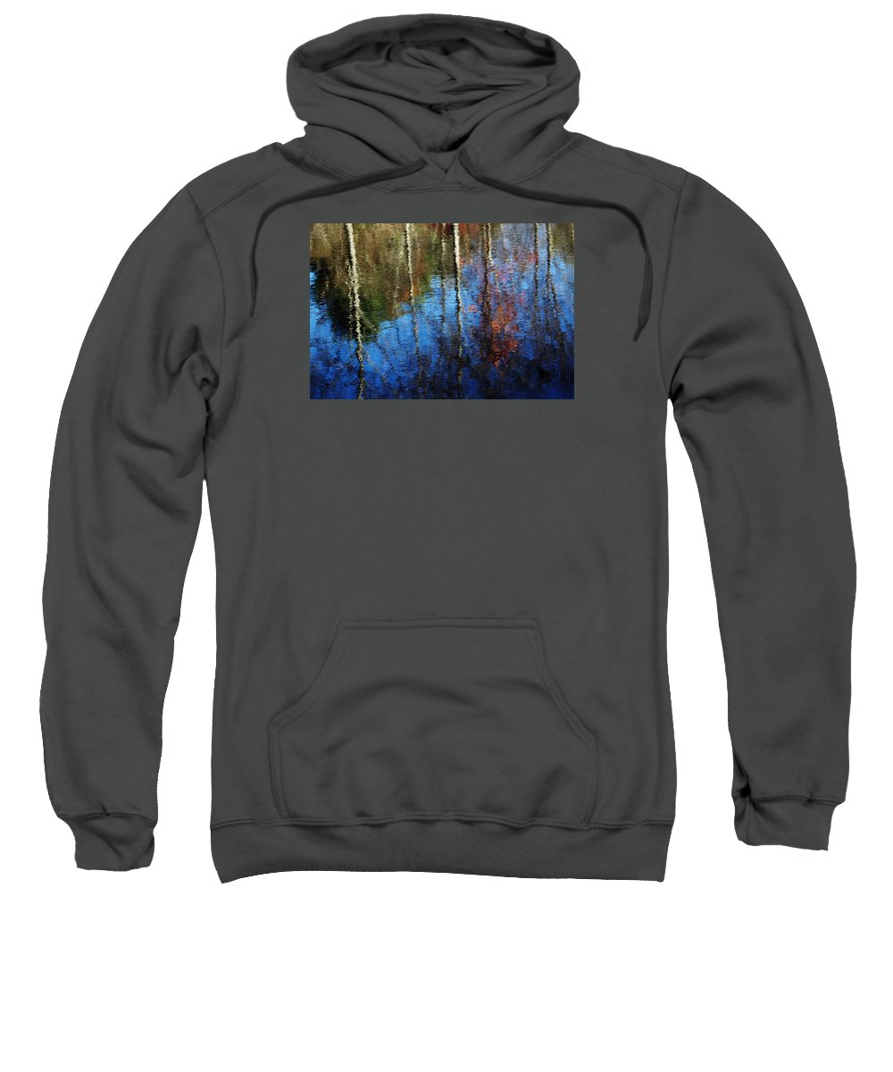 Landscape Sweatshirt featuring the photograph Fall Reflections by Charles Ray