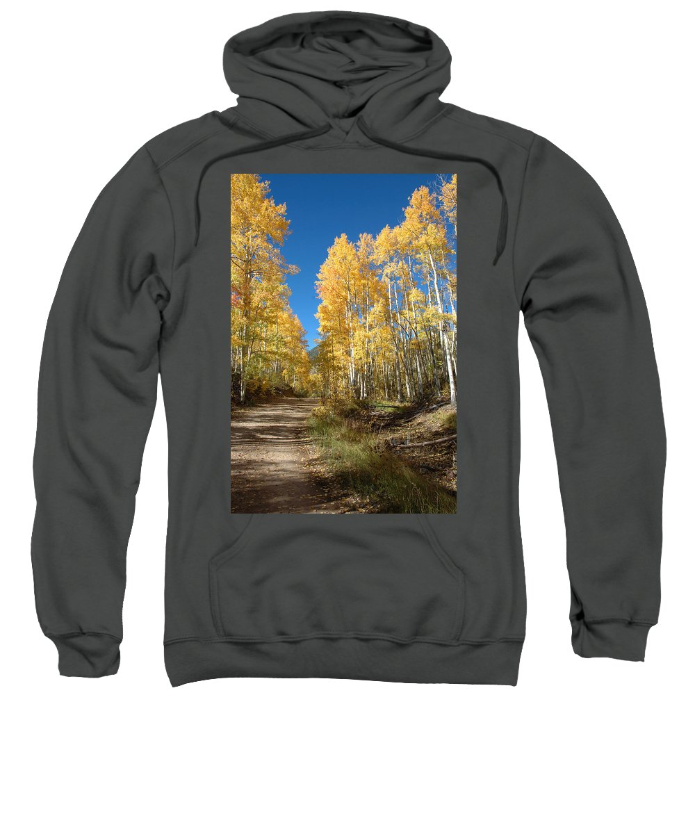 Landscape Sweatshirt featuring the photograph Fall Road by Jerry McElroy