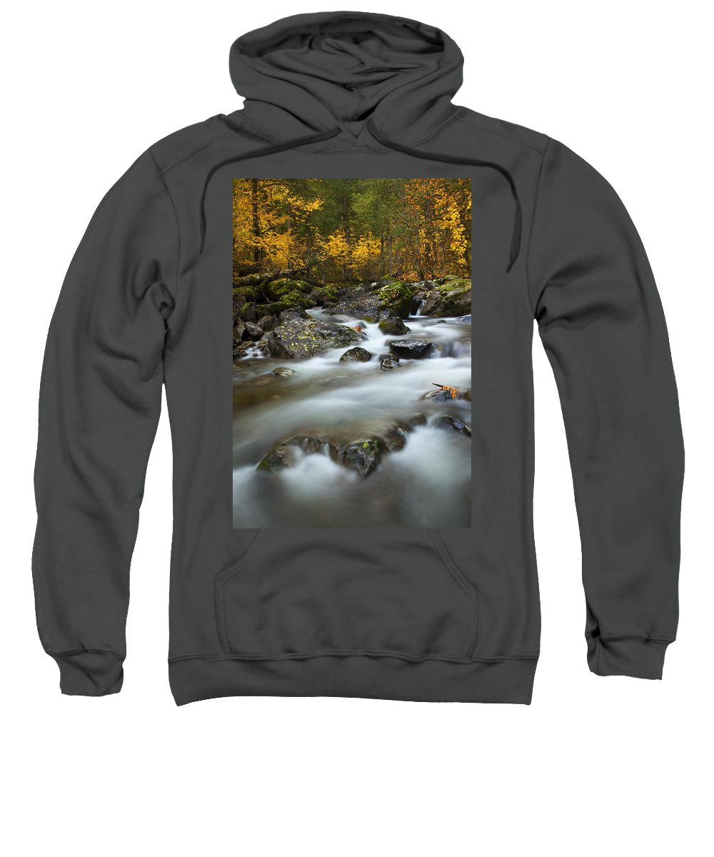 Stream Sweatshirt featuring the photograph Fall Surge by Mike Dawson