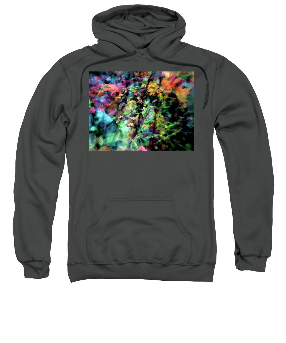 Leaf Sweatshirt featuring the photograph Fall Watercolor by Don Zawadiwsky