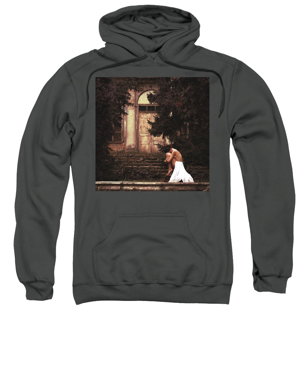 Nude Sweatshirt featuring the photograph Fallen Angel by Anri Croizet