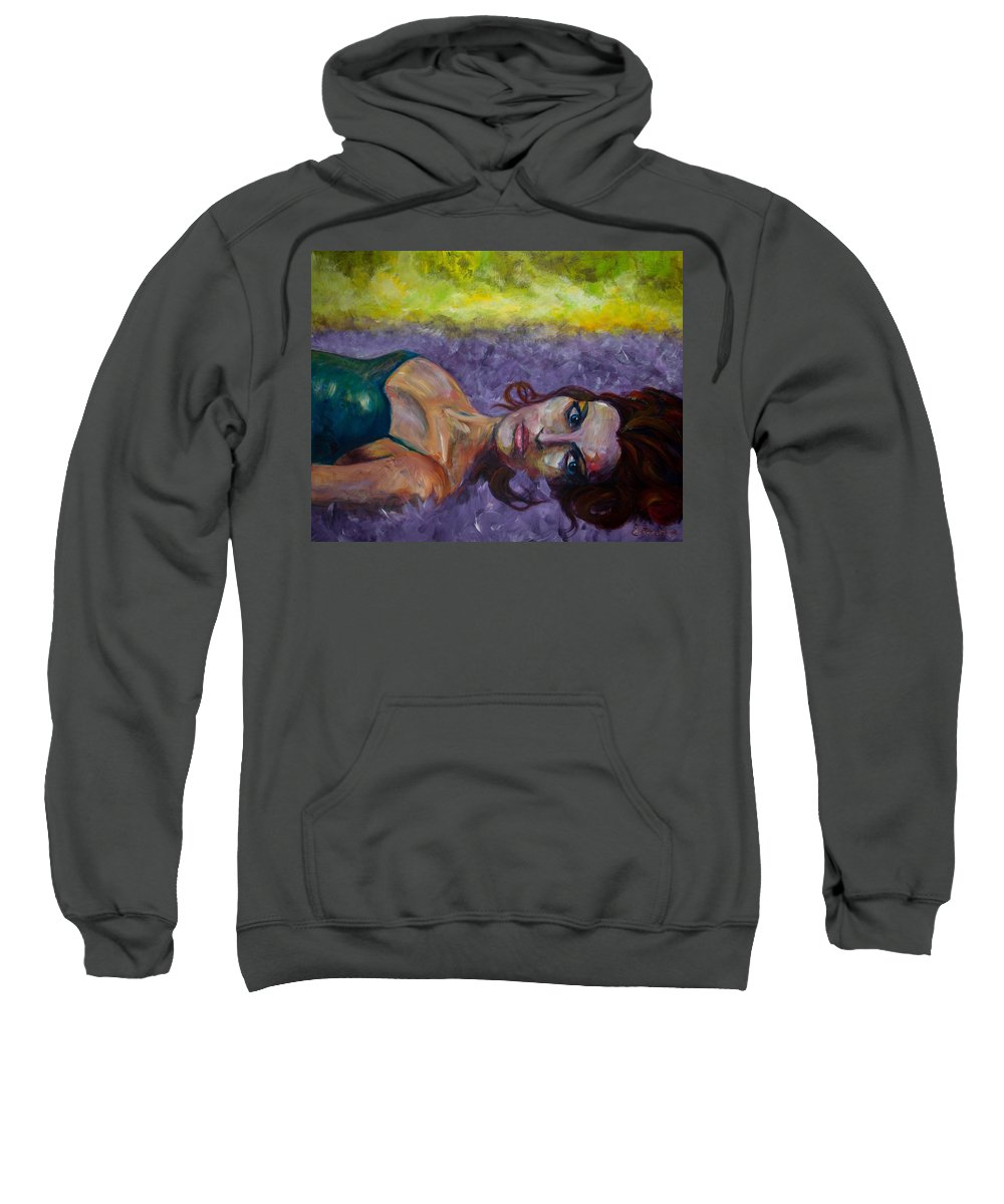 Expressive Sweatshirt featuring the painting Fallen by Jason Reinhardt