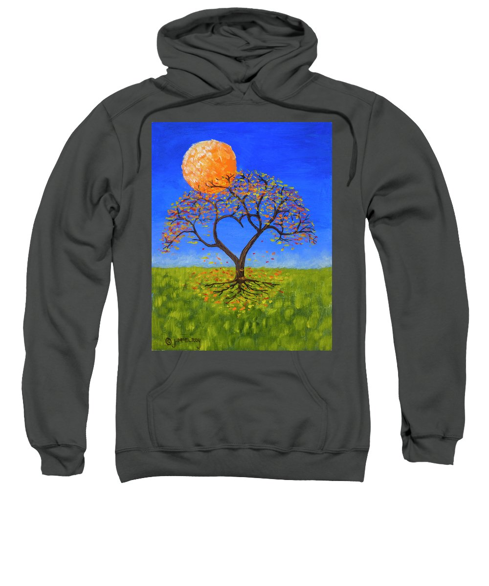 Love Sweatshirt featuring the painting Falling For You by Jerry McElroy