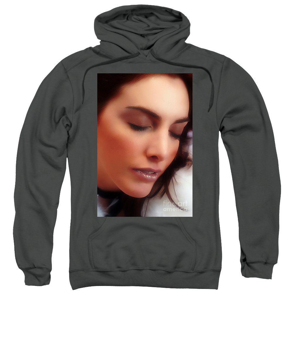 Clay Sweatshirt featuring the photograph Falling In Love by Clayton Bruster