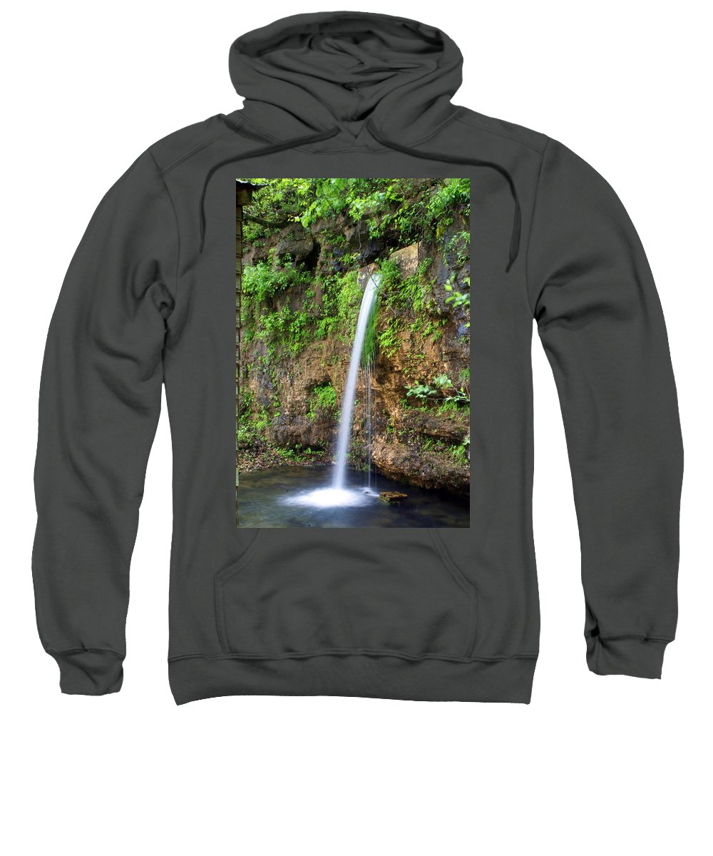 Ozarks Sweatshirt featuring the photograph Falling Spring by Marty Koch