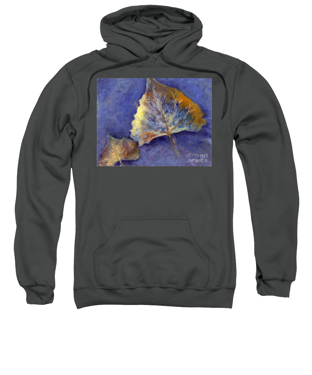 Leaves Sweatshirt featuring the painting Fanciful Leaves by Chris Neil Smith