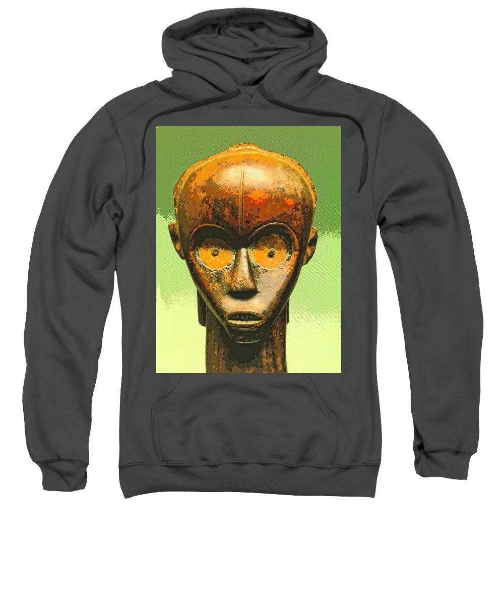 Africa Sweatshirt featuring the mixed media Fang Figure by Dominic Piperata