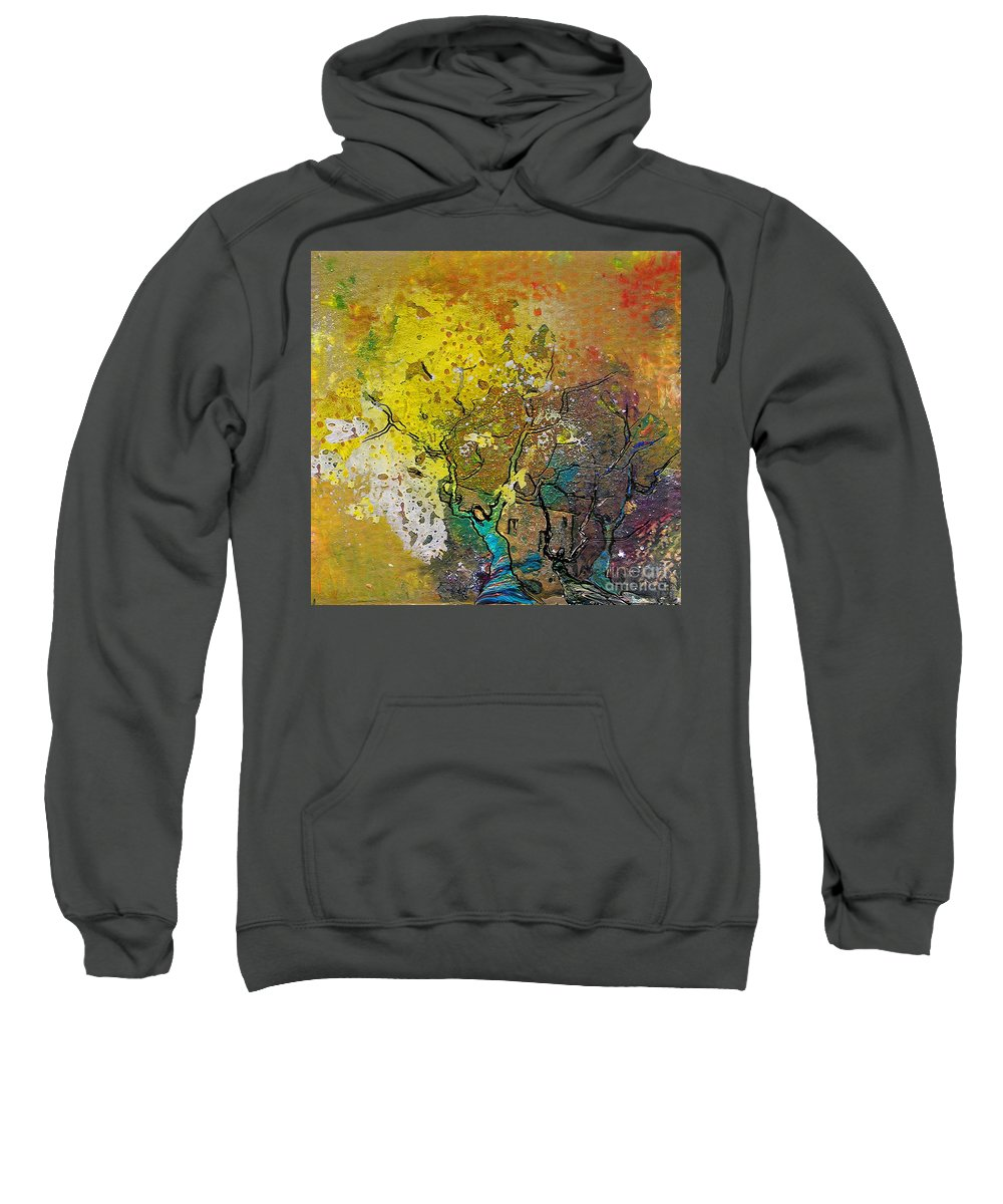 Miki Sweatshirt featuring the painting Fantaspray 13 1 by Miki De Goodaboom