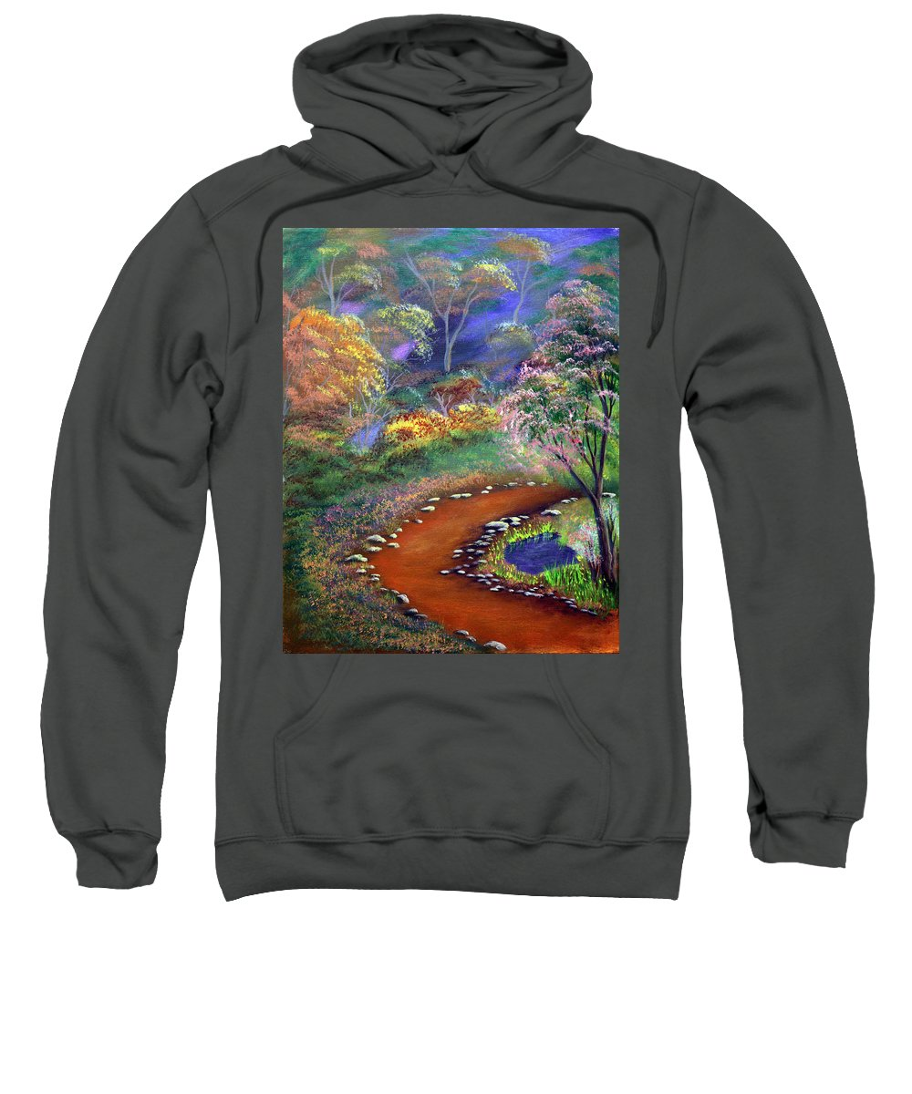 Dawn Blair Sweatshirt featuring the painting Fantasy Path by Dawn Blair