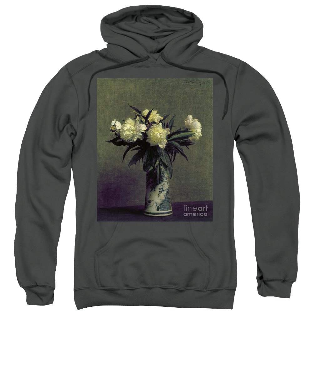 1872 Sweatshirt featuring the photograph Fantin-latour: Peonies, 1872 by Granger
