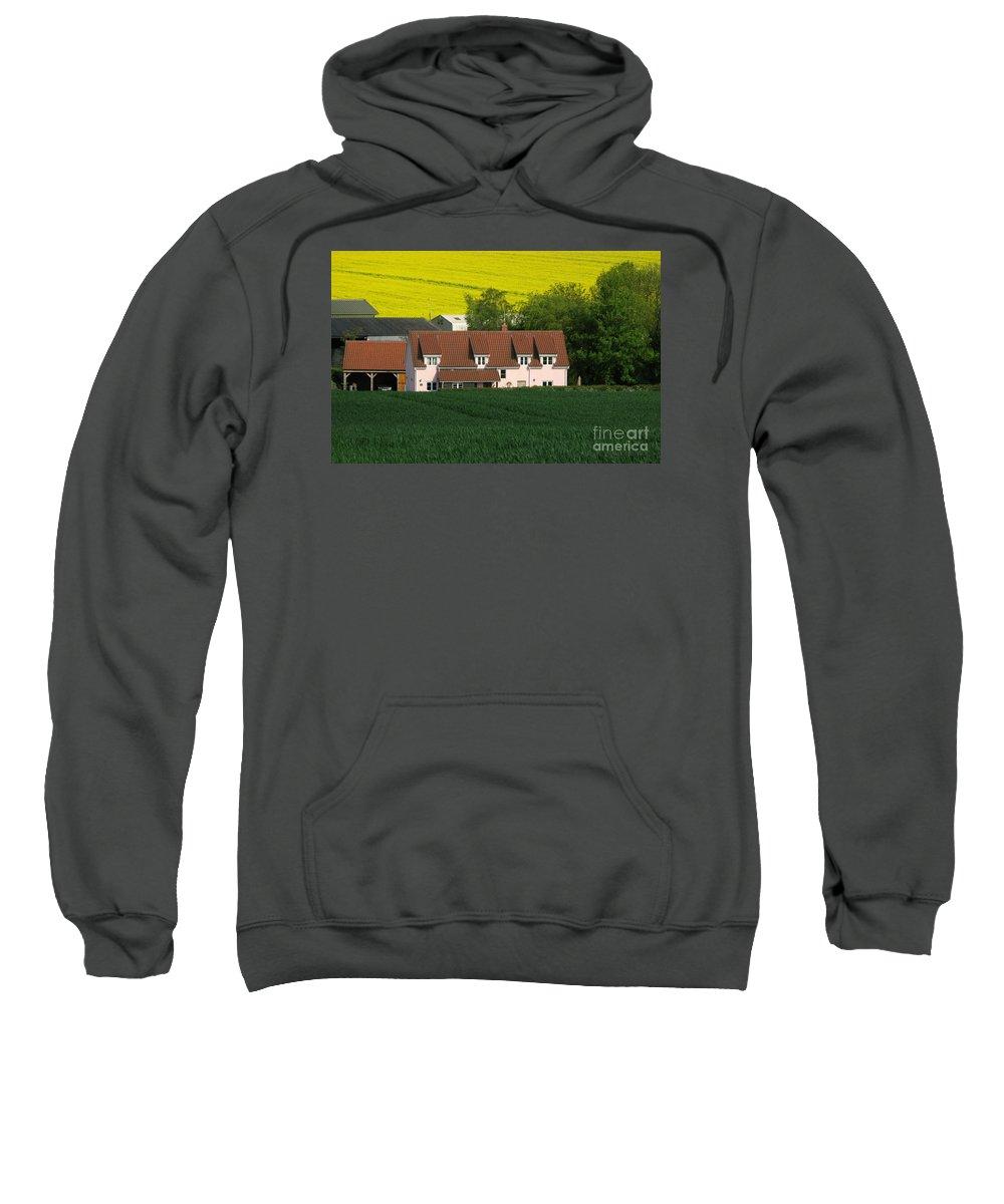 Farm Sweatshirt featuring the photograph Farm Fields by Ann Horn