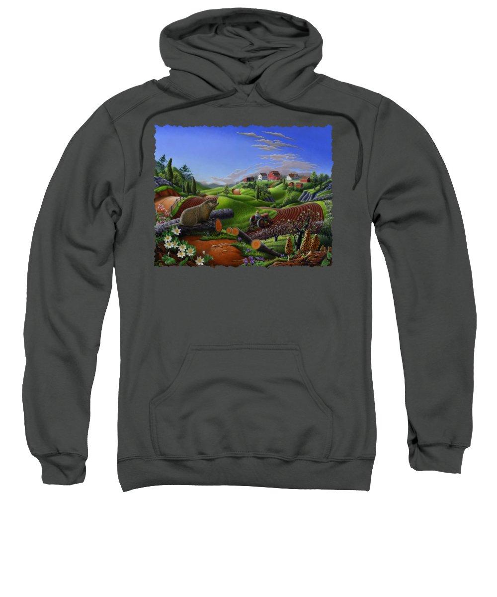 Groundhog Hooded Sweatshirts T-Shirts